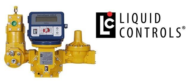 Liquid Controls logo with pump by Liquid Controls