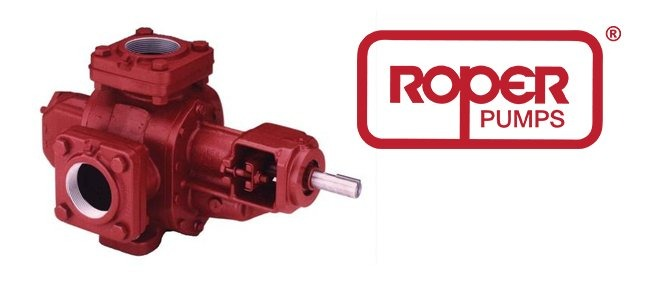 Roper Pumps logo with a pump by Roper