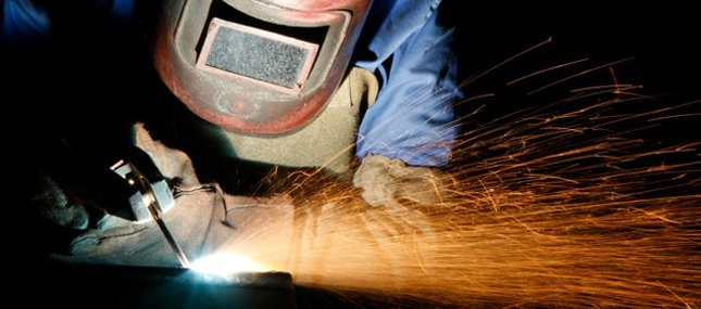 Welding image up close